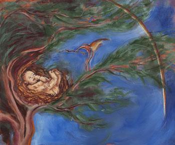 Le colibris et l'enfant tableau Partage inspiré d'une légende de Pierre Rabhi