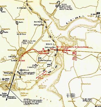 Kaart van 17 mei 1940