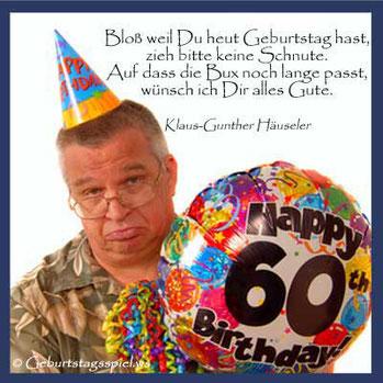 Glückwünsche zum 60. Geburtstag