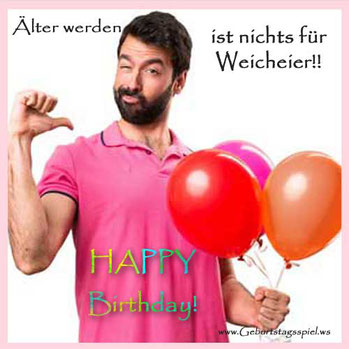 Lustige Geburtstagssprüche : Älter werden ...