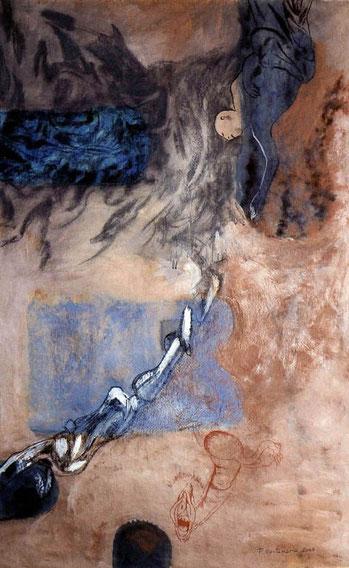 Huesos II 2003 pastel 160X99 cm