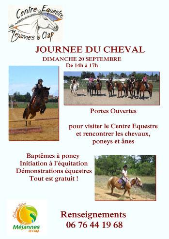 Portes Ouvertes au Centre Equestre de Méjannes le Clap
