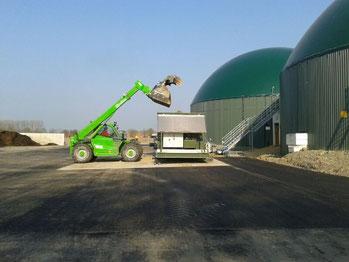 Fütterung einer Biogasanlage