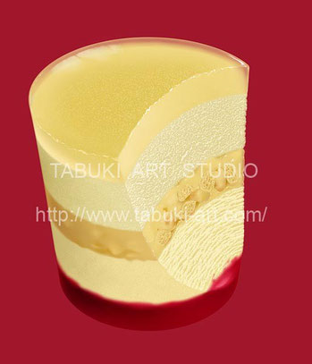 NRD1243パッションフルーツ リアルイラスト 断面 シズル おいしい果物  フルーツイラスト fruit illustration
