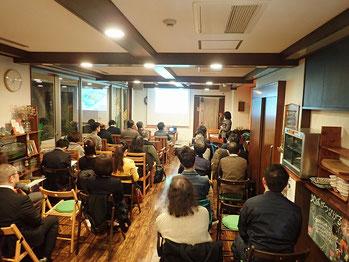 大阪府中小企業家同友会主催の障害者部の勉強会でトピアリー講演