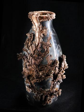 David Bergmann kupfer galvanisieren Vase Vasen Lukas Wegwerth