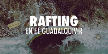 imagen de grupo realizando rafting en el Guadalquivir