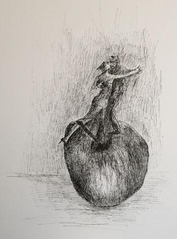 #inspiriencer Tanz auf dem Apfel by artcrestani