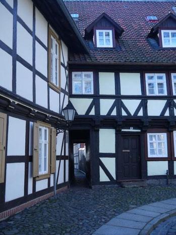 Altstadtkern von Wernigerode, die schmalste Gasse.