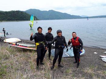 ウインドサーフィン スクール SUP 海の公園 神奈川 横浜 スピードウォール 本栖湖