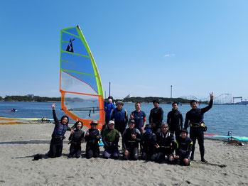 ウインドサーフィン SUP 海の公園 横浜 神奈川 初心者 スクール スピードウォール