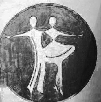 Prakriti, die Natur, tanzt den Schleiertanz vor Brahma, dem Weltenschöpfer. Und schon geht`s los in die nächste Runde der Schöpfung ...