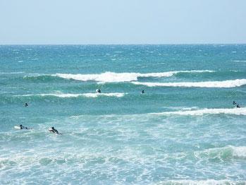 朝はぐちゃっていた波も、満ちから引きにかけてまとまってきましたが、風が強い一日でした。
