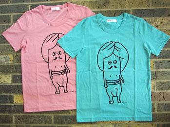 たばたさんTシャツ¥4515(size02,ライトピンク・ライトブルー)Ne-net