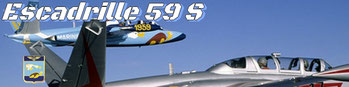 Patrouille Acrobatiques  Fouga Zephyr Escadrille 59 S