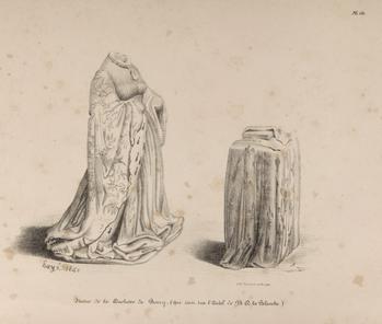 Dessin de Hazé (1840) avant restauration - Jeanne de Boulogne