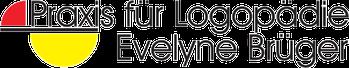 Das Logo der Praxis für Logopädie Evelyne Brüger wird abgebildet