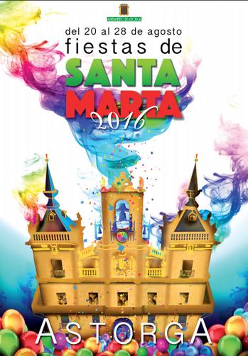 Fiestas de Santa Marta en Astorga 2016 Cartel y Programa