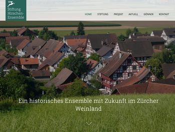 Bildschirmfoto Website Responsive Webdesign Hirschen Ensemble