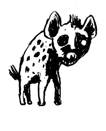 Max Andersson hyena, Hyäne, Raubtier, Assfresser