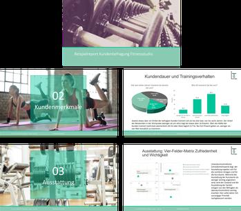 Beispiel Ergebnisreport Kundenbefragung Fitnessstudio