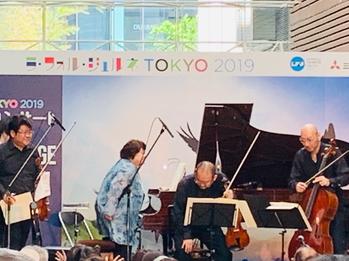 ジャスミンピアノ四重奏団 森田昌弘(vl)、西田史朗(va)、篠崎由紀(vc)、多喜靖美(p)
