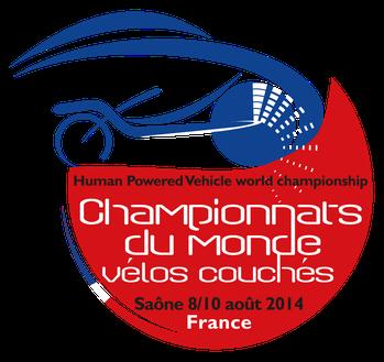 Logo Championnat du Monde de vélo couché 2014 en France