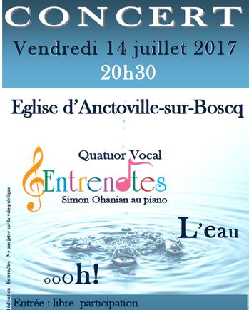 Affiche quatuor Entrenotes- 14 juillet 2017