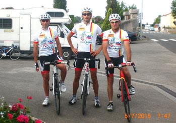 Morgan, Thierry et Philippe avant le départ