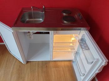 Nur ein kleiner Küchenersatz ist die Leihküche