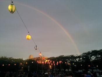 2015年7月 虹の中のたい焼き