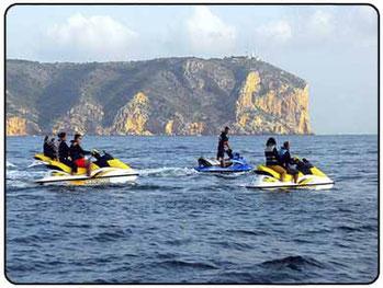 alquilar una moto acuática en Denia (Alicante)