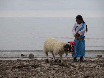 Tibetans sacred lake