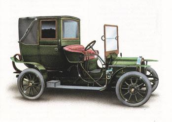 Een La Buire 12 HP Runabout uit 1911.