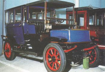Een Krieger 4 elektrische auto (1904-1909).