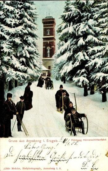 Hornschlittenfahrt 1905