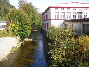 Das heute noch erhaltene Gebäude ehemaligen Färberei