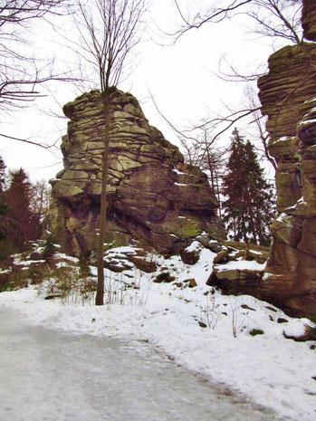Die Greifensteine im Winter
