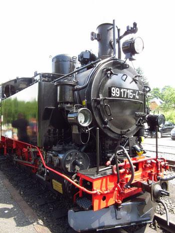 Eine der Lokomotiven im Einsatz