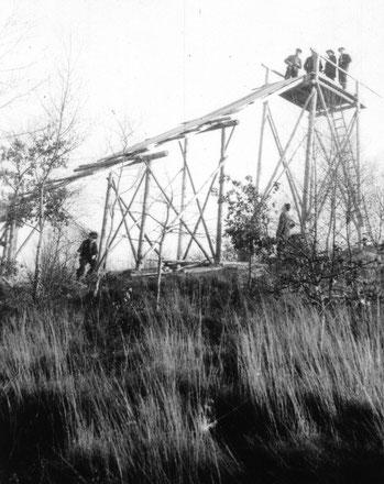 Bau des Anlaufturmes Bildquelle: (1)