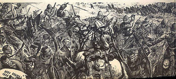 2 April 1879 - Colonna di soccorso britannica di Chelmsford sconfigge l'esercito zulu (impi).