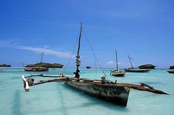 Barche da pesca locali, kenya.