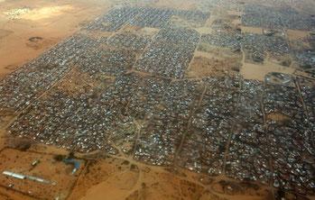Il campo profughi di Dabaab in Kenya.