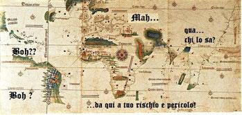 Mappa Africa. Le cartine del '500 non erano molto complete