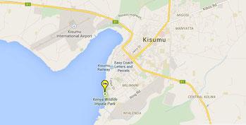 Kisumu Impala Sanctuary - Mappa