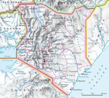 Mappa Kenya