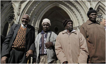 I 4 Mau-Mau davanti alla Corte di Giustizia londinese
