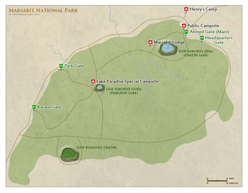 Parco Nazionale Marsabit - Mappa