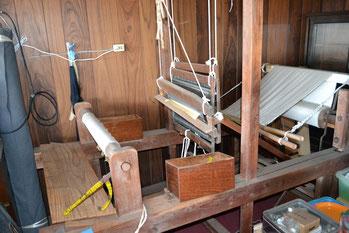 高機の織り子さんから譲り受けた織機です