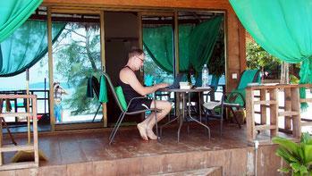 Relaxen auf der Terrasse unseres Sweet-Dreams-Bungalows